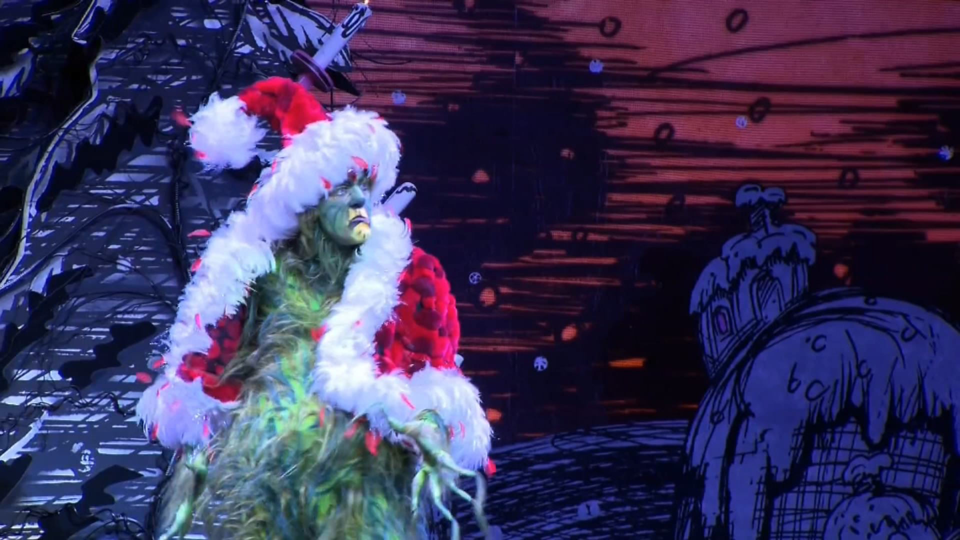 """(Gavin Lee, fresh off his role as Squidward in """"SpongeBob SquarePants: The Broadway Musical,"""" takes center stage as the Grinch in """"How the Grinch Stole ..."""