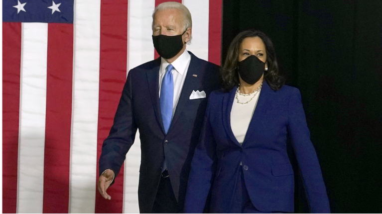 Biden Harris Hold First Joint Event Together
